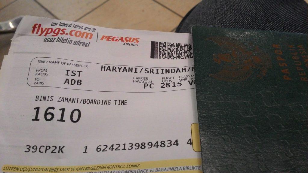 Pengalaman Terbang dengan pegasus ke Izmir dari Istanbul