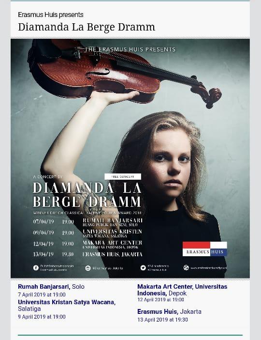 Pertunjukan musik Gratis di Erasmus Huis, Nonton yuk