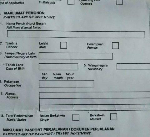 Syarat Pengajuan Visa Malaysia karena Mengikuti Pasangan