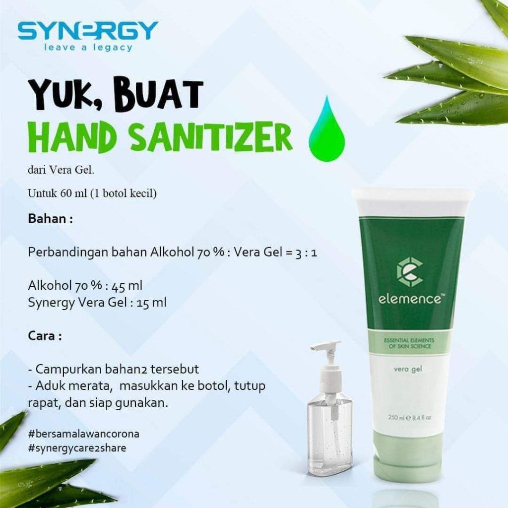 Membuat Hand Sanitizer Sendiri dengan Vera Gel Synergy