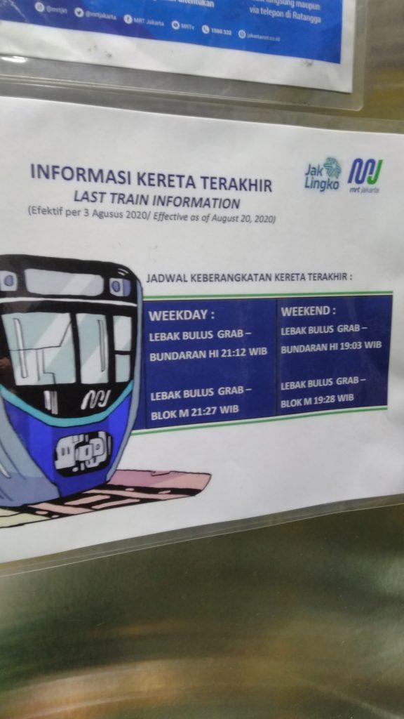 Jadwal Jam Operasional MRT di Masa Transisi New Normal