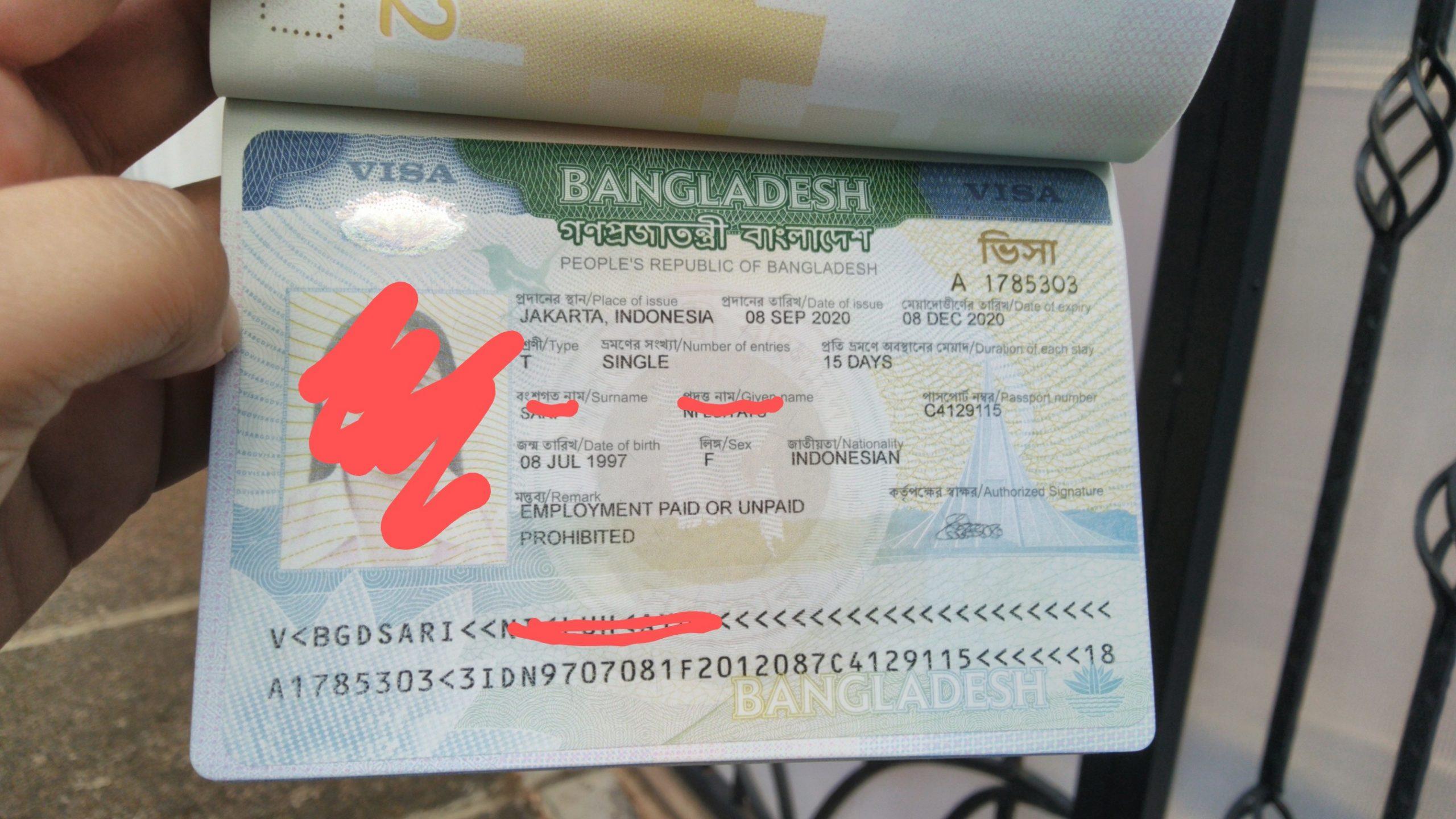 Pengalaman Membuat Visa Bangladesh untuk Turis di Masa New Normal