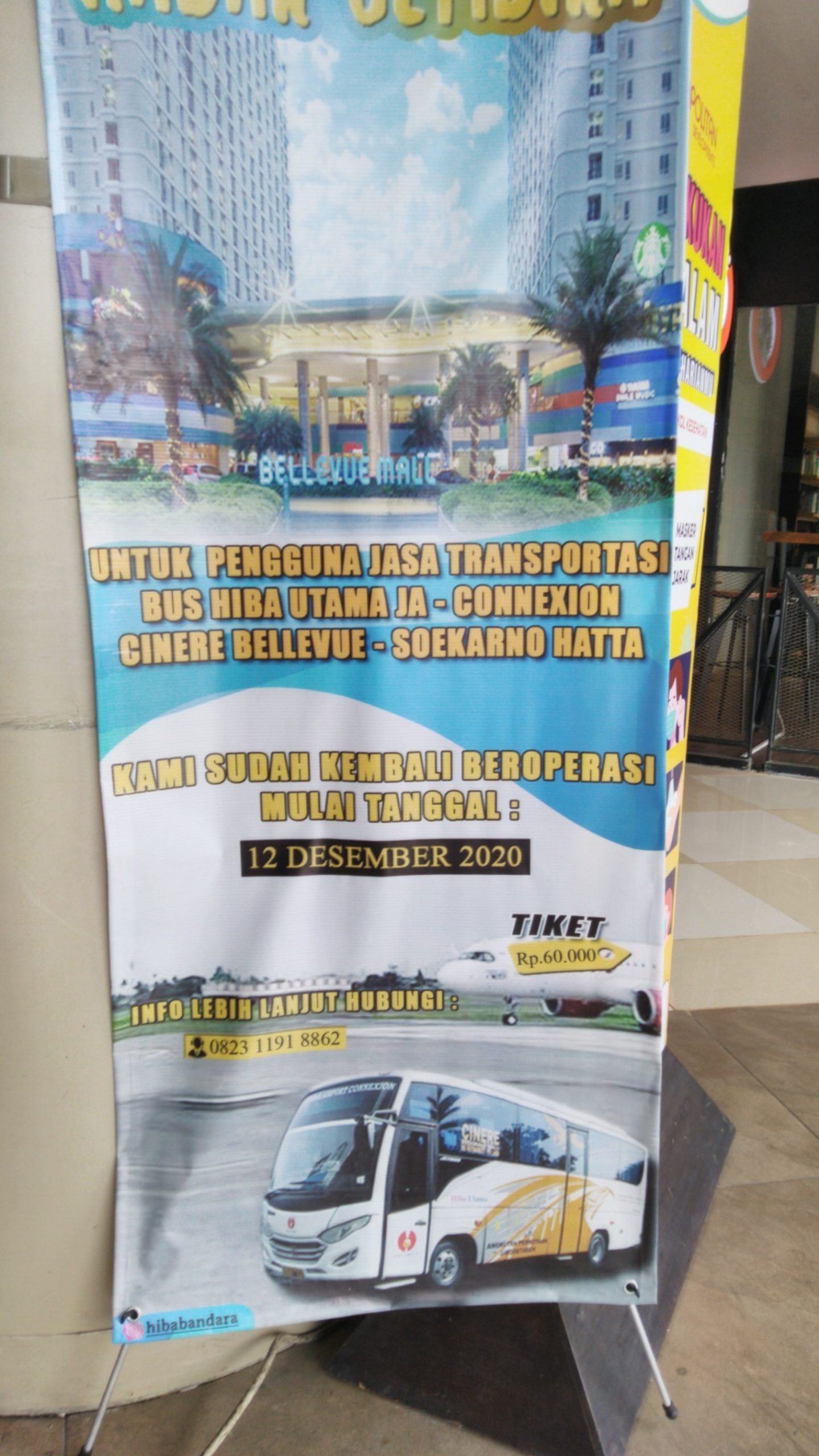 Damri Cinere ke Bandara Kembali beroperasi Terbatas