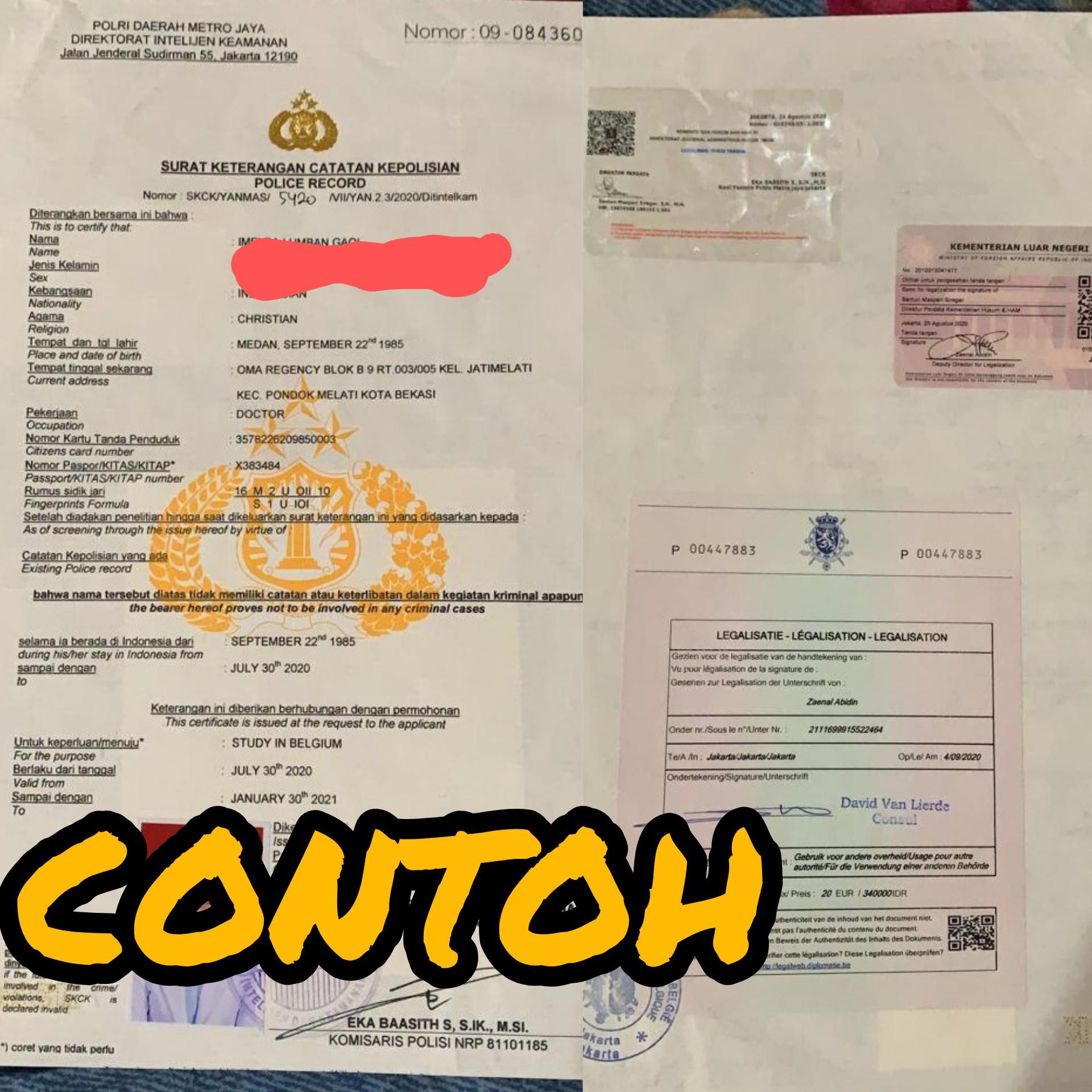 Legalisir SKCK untuk Syarat Pengajuan Visa di Kementrian