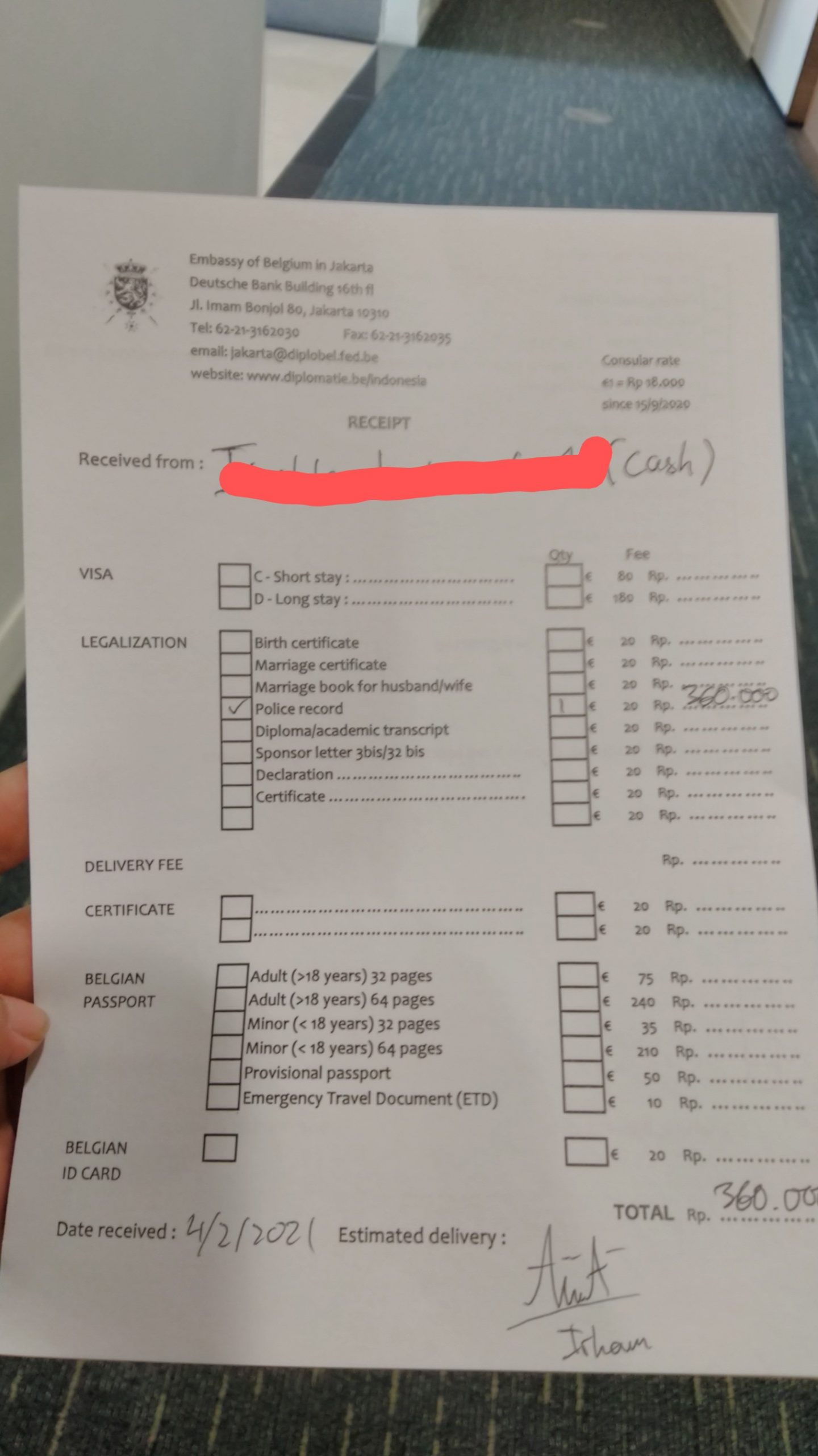 Pengalaman Legalisir SKCK di Kedutaan Belgia Jakarta