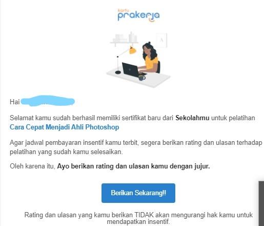 Pengalaman Ikut Pelatihan Online Kartu Prakerja dan Tipsnya