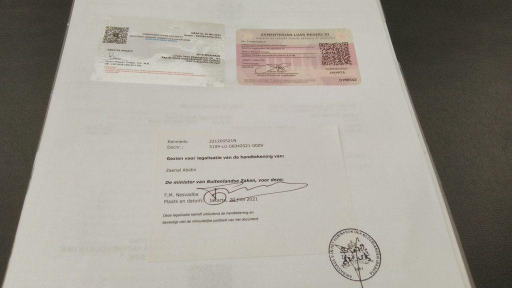 Pengalaman Legalisir di Kedutaan Belanda- Akta Lahir