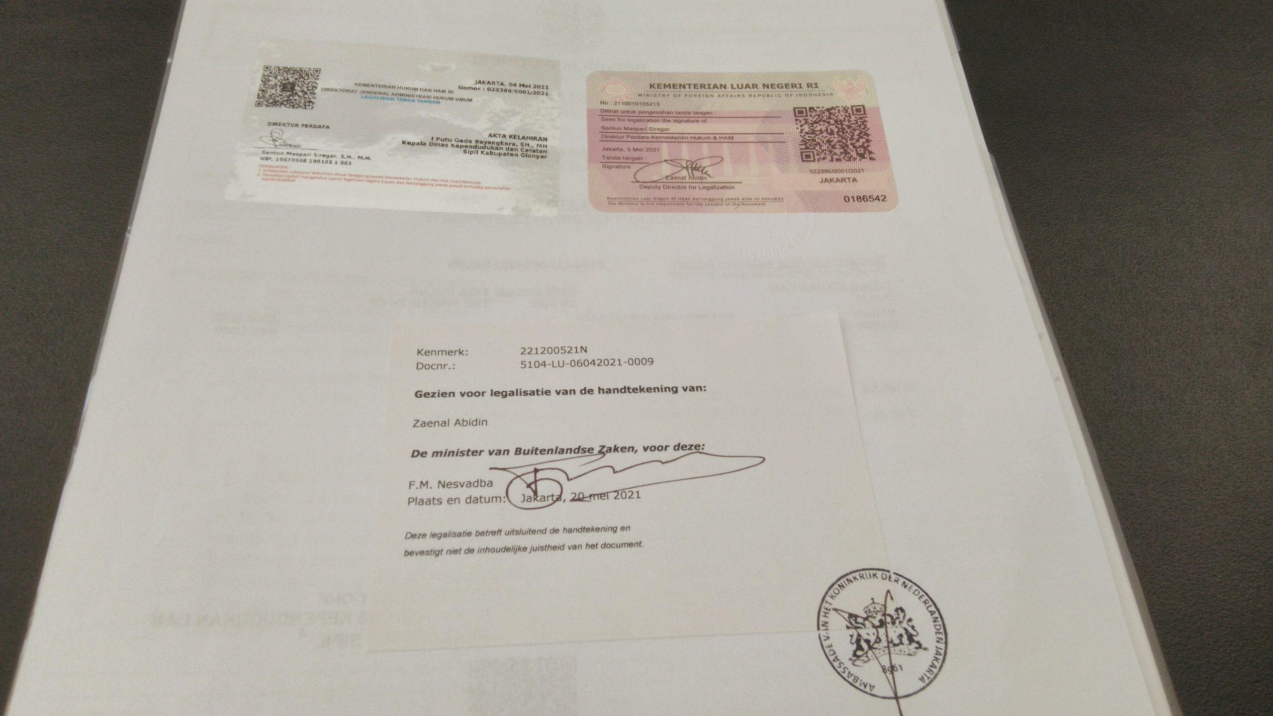 Pengalaman Legalisir di Kedutaan Belanda – Akta Lahir