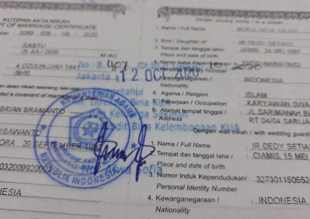 Legalisir Buku Nikah di Kemenag Tidak dibuka selama PPKM