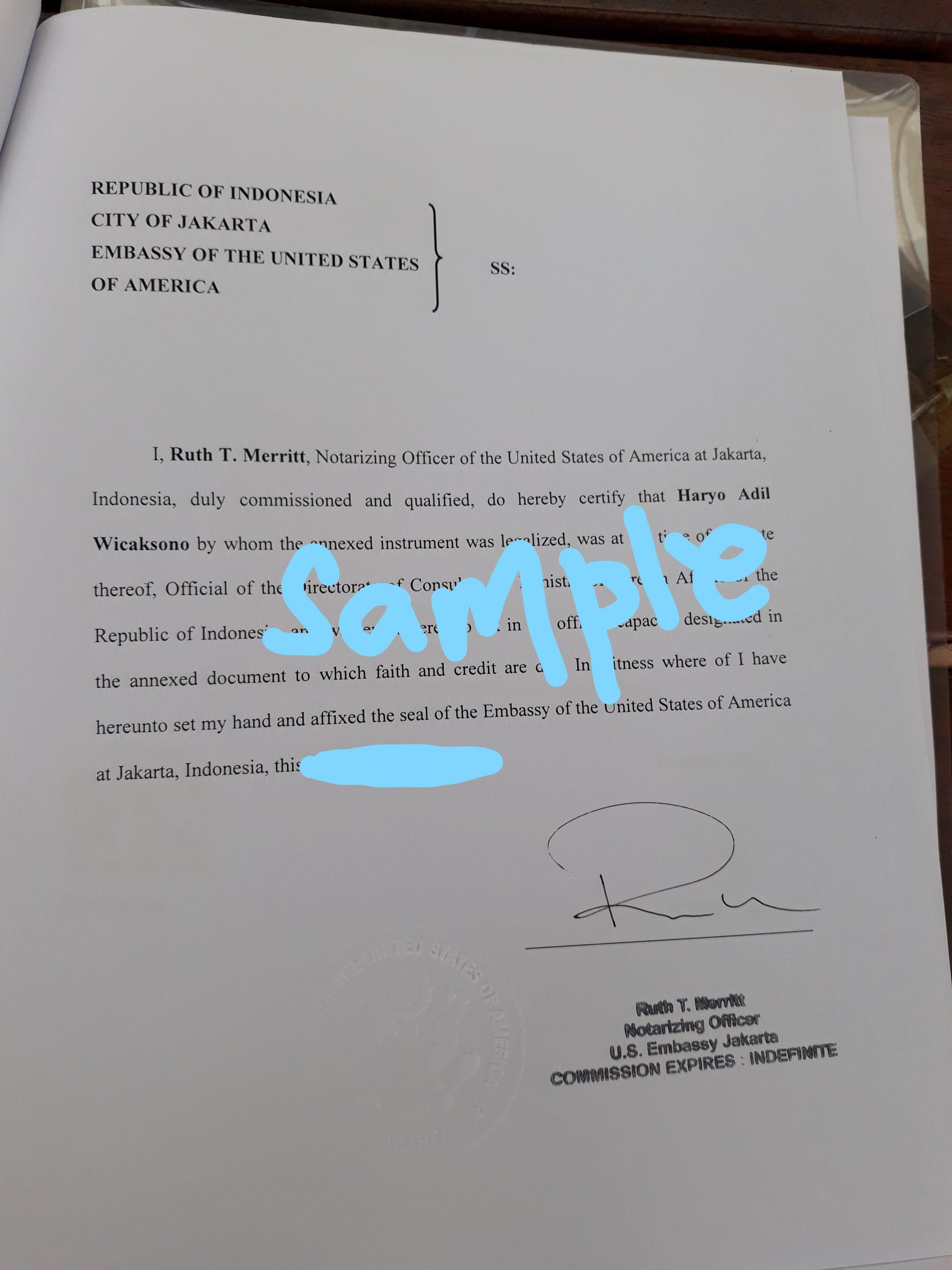 Legalisir Akta Cerai di Kedutaan Amerika Jakarta